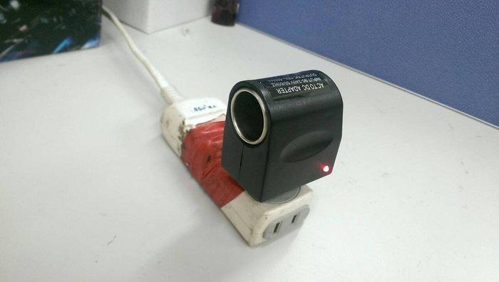 車用電源轉換器 AC110V TO DC12V 家用插頭 轉 點菸器插頭 居家用汽車精品