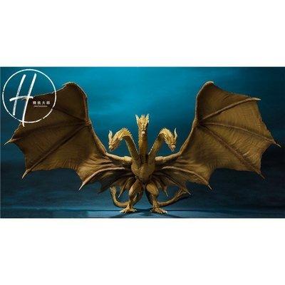 哥斯拉 SHM 怪獸之王 2代 三頭龍 王者基多拉公仔 電影經典可動 高30cm 盒裝手辦雪兒物語