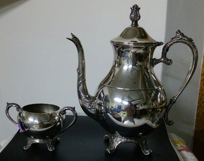 112英國漂亮鍍銀壺組Silver Plated Coffee Pot F.B. Rogers Silver Co.