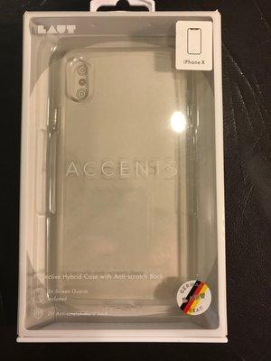 全新自售 LAUT Accents 手機保護殼 適用iPhoneX (顏色: Crystal) 免運費