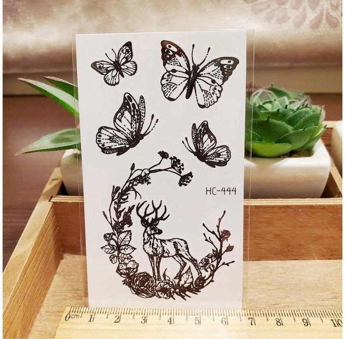 【萌古屋】黑色小圖騰 - 男女防水紋身貼紙刺青貼紙HC-444