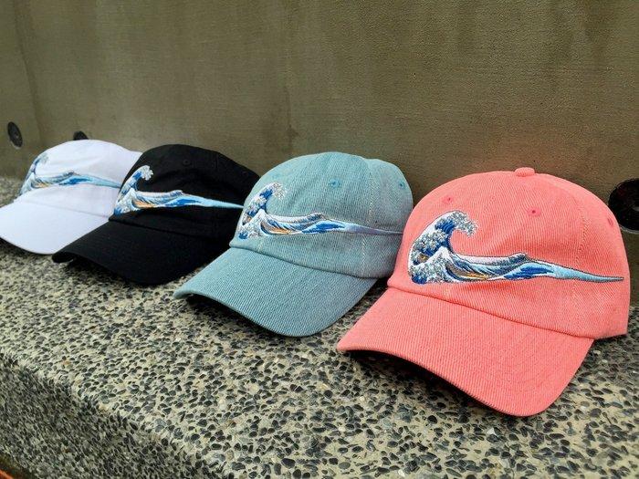 { POISON } KYOTO STREET 神奈川巨浪CAP 刺繡圖樣 翻玩NIKE 彎延老帽