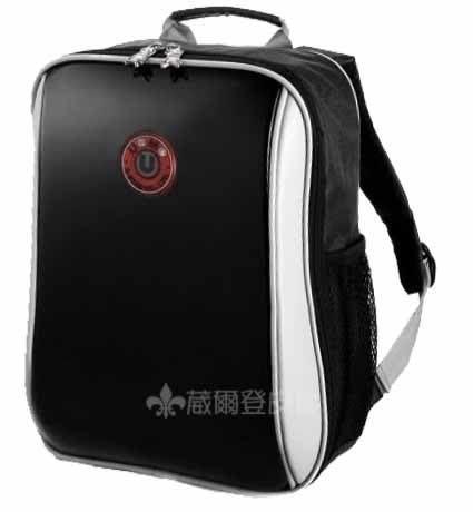 【葳爾登】UNME護脊書包小學生書包,超輕鏡面背包台灣製造兒童後背包,3037A亮黑色鏡面