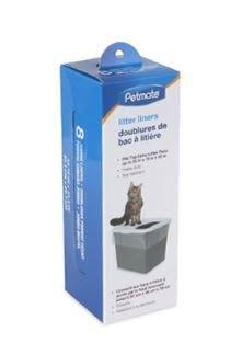 貝果貝果 美國Petmate  防漏砂貓便箱專用貓砂袋 8入一盒【U024】