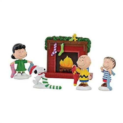 【Dona代購】現貨 美國Enesco精品雕塑 史努比聖誕節擺飾-聖誕襪 造型塑像 木雕風公仔擺飾 雕像模型
