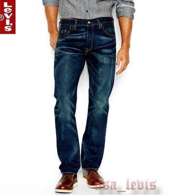 【98美金高價W32L34現貨優惠】美國 LEVI S 501 Oil Change  深藍重磅髒污貓鬚經典直筒牛仔褲