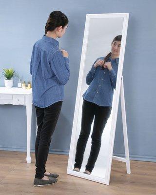 實木框立鏡 全身鏡 掛鏡 壁鏡 穿衣鏡 化妝鏡 兩色【馥葉-百】【型號MR153F 】