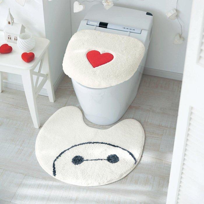 迪士尼DISNEY《預購》大英雄天團 杯麵 馬桶蓋套+地墊組~可機洗~日本正品~心心小舖