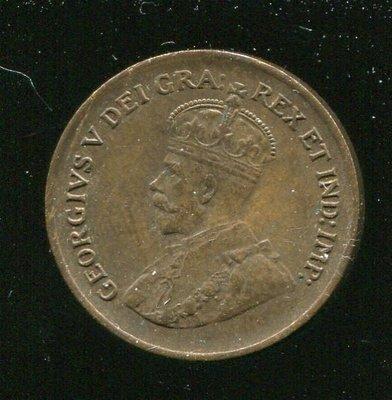 CANADA 加拿大錢幣,1-CENT,K28,1932,品相極美上 XF+