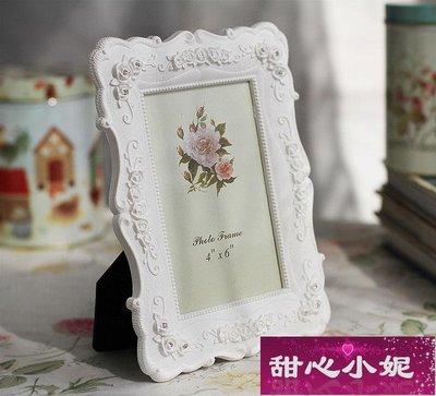 相框6寸7寸8寸10寸白色田園相框組合玫瑰相架創意照片框擺台A01好貨【甜心小妮】