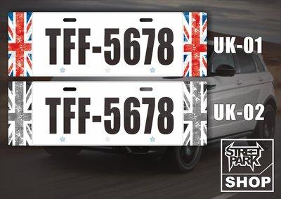 【STREET PARK】訂製歐盟 車牌裝飾 英國國旗 無邊框設計JUKE MINI【原價780$ 特價 580$】