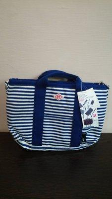 ROO-Carriage  ♥日本品牌♥ 海軍藍 橫條紋  2way 斜背 / 手提 兩用包