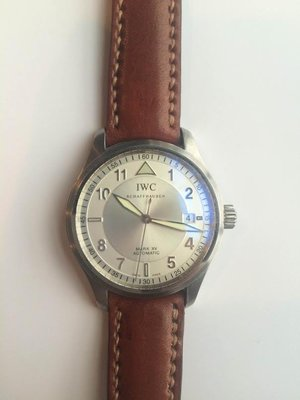 IWC馬克15 圓弧型錶耳牛皮錶帶訂製 IWC Mark XV curved lug end leather strap