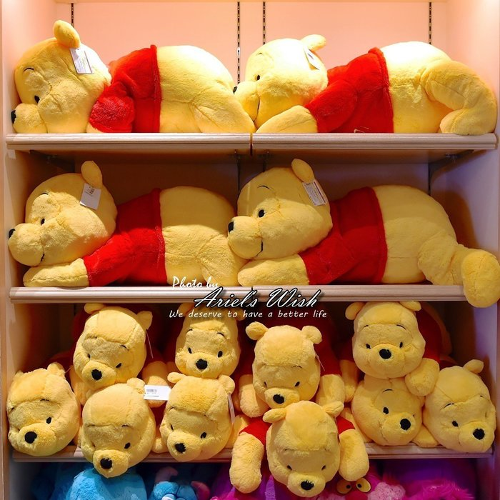 Ariel's Wish預購-日本東京迪士尼連線Disney小熊維尼winnie毛絨絨超柔軟超舒服抱枕靠墊-(超大款)