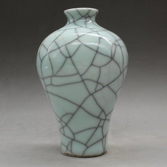 宋哥窯開片梅瓶仿古瓷器古玩古董老陶瓷舊貨老物件收藏