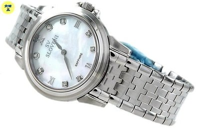 (一元起標)SV斯凡洛(真品)南非真鑽鑽錶.瑞士機芯.藍寶石水晶鏡面.電視購物商品..白