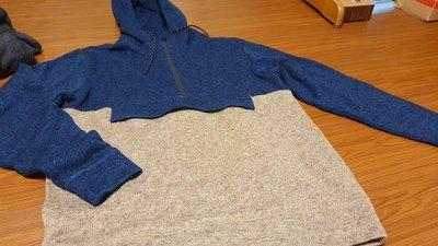 5折Billabong Boundary pullover hoodie 潮牌衝浪藍米色撞色連帽拉鏈帽T 袋鼠 刷毛 超保暖 全新正品 僅一件 禦寒l 機能