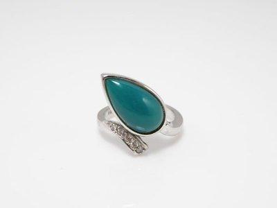 【雅玩藏私】台灣藍寶§藍玉髓〝印尼-藍寶戒指〞深藍綠,獨有的設計造型