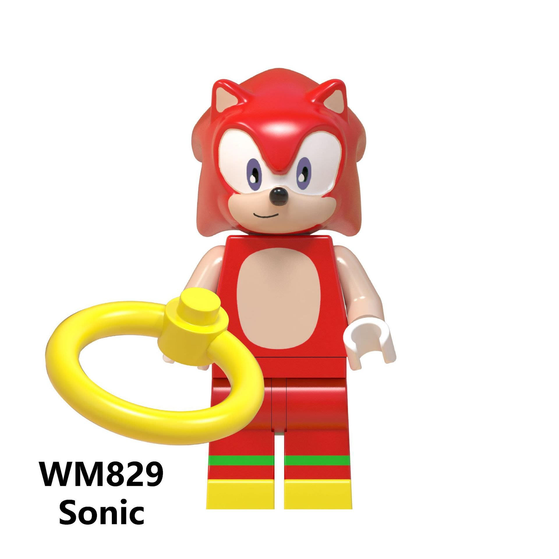 【積木班長】WM829 那克魯斯 音速小子 SONIC 電玩 電影 人偶 袋裝/相容 樂高 LEGO 積木