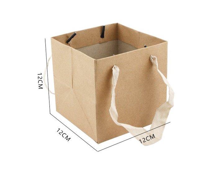 [C.M.平價精品館]現貨/10*10*10cm牛皮提袋