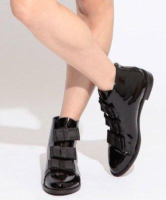 =Tatami's Select= 日本購入F-troupe蝴蝶結亮皮短靴24cm/24.5cm
