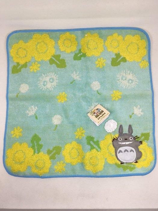 日本 龍貓罌粟花小方巾