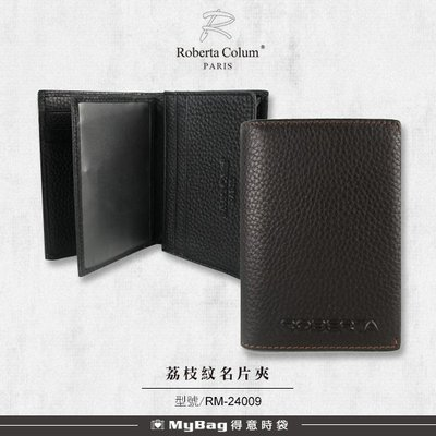 ROBERTA 諾貝達 名片夾 荔枝紋皮革 8卡側翻窗格信用卡夾  真皮卡片包  RM-24009 得意時袋