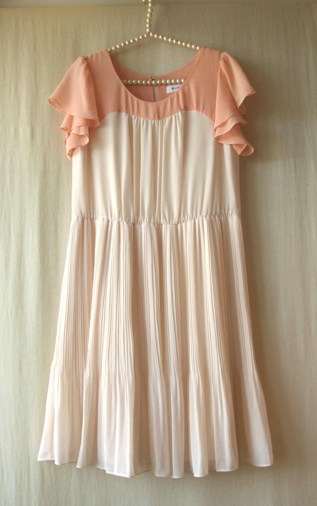 飄舞衣世界《韓款服飾 SEASON WIND 季候風》氣質典雅漂亮雪紡洋裝
