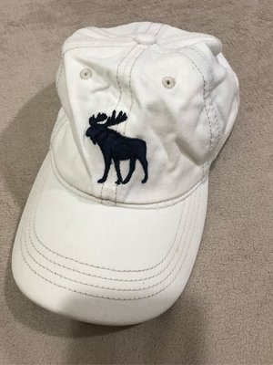 Abercrombie and Fitch A&F AF 男生棒球帽 白色 老帽 大麋鹿刺繡logo 經典絕版品 正品 台北市