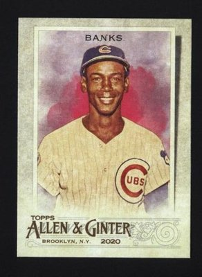 2020 Topps Allen and Ginter #117 Ernie Banks - Chicago Cubs