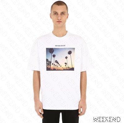【WEEKEND】 IH NOM UH NIT Sunset 男女同款 短袖上衣 T恤 白色 19春夏