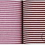 ✿小布物曲✿細條紋 100%純棉麻印花布(厚) 窄幅110CM 日本進口質感優 共10色 單價/尺