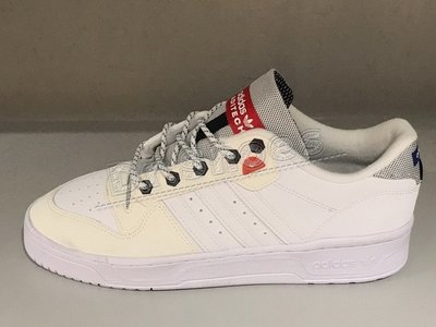【Dr.Shoes】Adidas Rivalry Low 男鞋 白 復古 皮革 滑板鞋 休閒鞋 FW5256