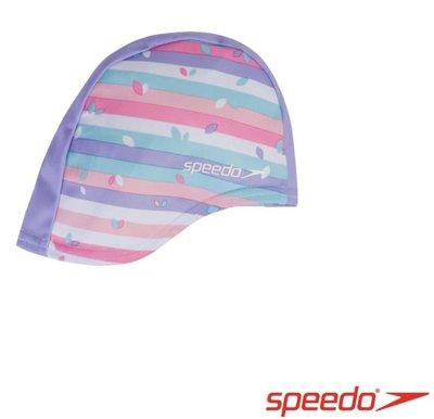 【登瑞體育】SPEEDO 兒童亮色合成泳帽 粉紫/造型/可愛/鮮豔/玩水/游泳_SD812241D681