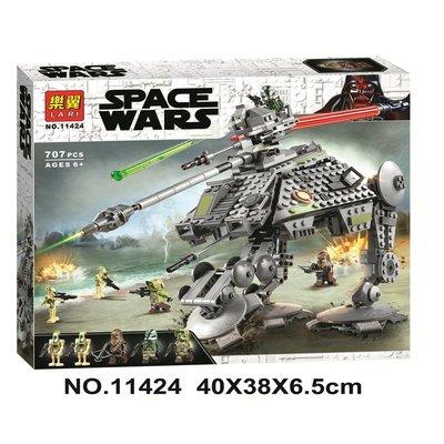 兼容樂高星球大戰AT-AP全地形攻擊步行機75234拼裝積木玩具11424