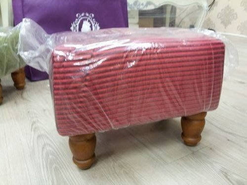 美生活館--全新古典沙發矮凳/腳椅/腳凳/兒童椅/輔助椅(紅條布)