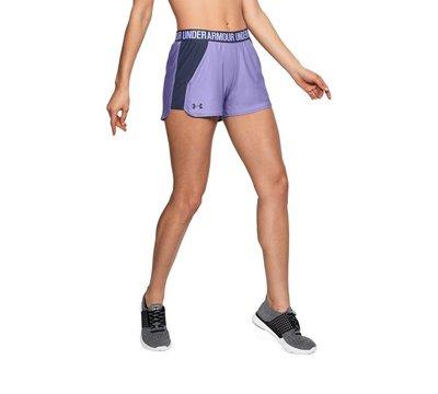 棒球世界全新UA Play Up 3吋 慢跑短褲  有綁帶 女款 有口袋 # 1292231-586