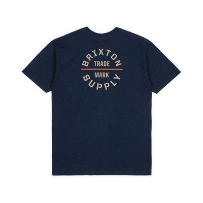 全新 現貨M Brixton Oath V 短tee 復古 騎士 滑板 衝浪 海軍藍