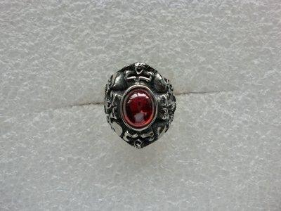 紅鋯骷髏頭戒