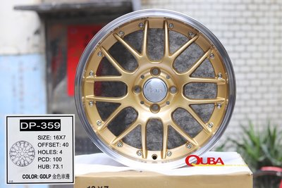 【A-679】16吋鋁圈 類 BBS HRE RAYS 4孔100 內凹 海拉風 鉚釘 7J VIOS TIERRA 新北市