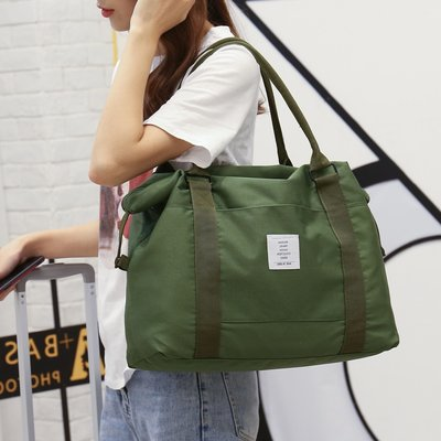 旅行包女短途輕便斜跨手提包大容量旅游外出差網紅行李登機包袋男