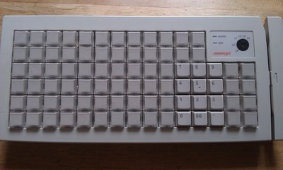 POSIFLEX KB-6600可程式化鍵盤/收銀機專用鍵盤/PS2介面/POS機鍵盤