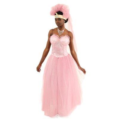萬聖節服裝 Cosplay 萬圣節 舞臺表演電影人物來到美國非洲移民豪華粉色婚紗裙