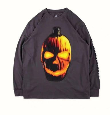 Travis Scott merchandise Halloween sweet男女南瓜萬聖節長袖T恤
