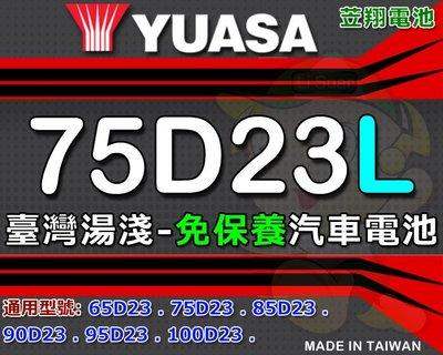 ☼ 台中苙翔電池 ►臺灣湯淺 ( 75D23L ) 55D23L 75D23L-CMF 55D23L-CMF 汽車電池