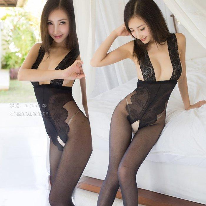 極致誘惑!!!成人性感超薄連身襪高腰連褲襪露胸開襠絲襪透視激情套裝情趣內衣