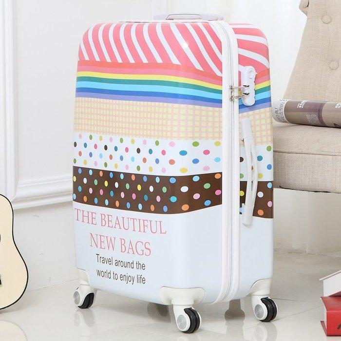 卡通行李箱女拉桿箱小清新韓版涂鴉兒童大小學生可愛密碼旅行箱男