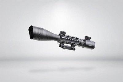 台南 武星級 4-12X50 三面魚骨 狙擊鏡 ( 瞄準鏡 倍鏡 快瞄 紅外線 外紅點 內紅點 激光 快瞄 定標器
