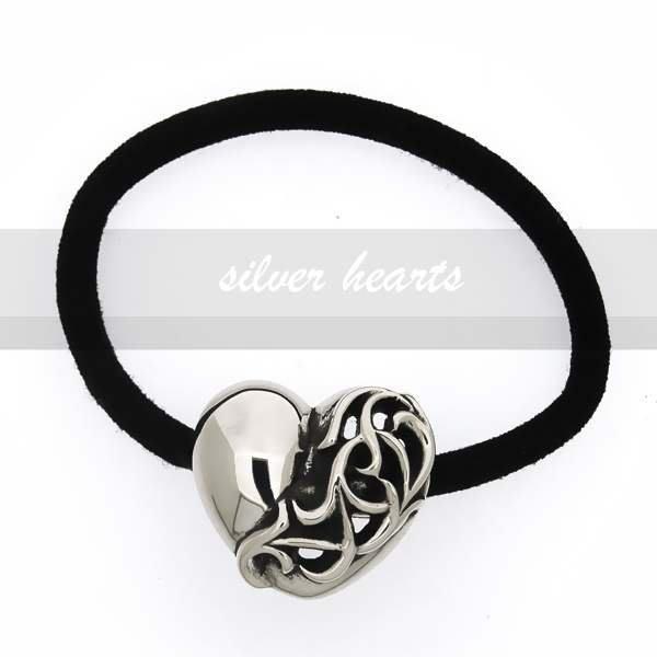 【SILVER HEARTS】Goro's Chrome Hearts克羅心Hair band Heart 純銀飾品髮圈