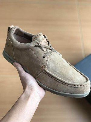 CAT 卡特 低幫輕便戶外休閒鞋 男鞋 超軟牛皮頭層皮低幫潮流休閒鞋 棕色